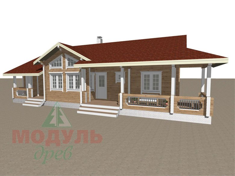 Проект дома из бруса «Пятигорск» - макет 2
