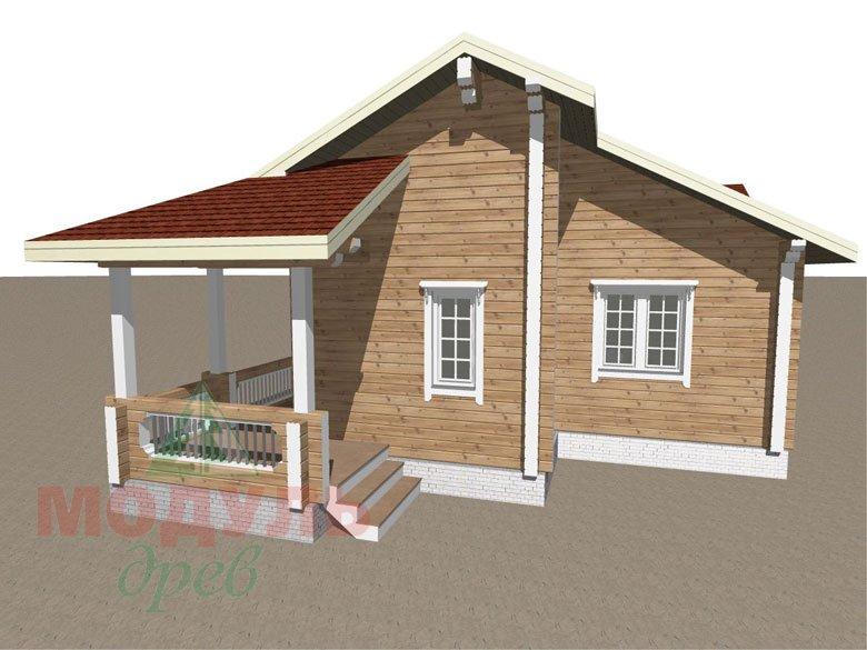 Проект дома из бруса «Пятигорск» - макет 3