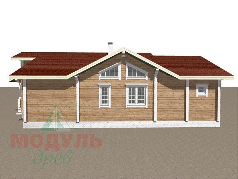 Проект дома из бруса «Пятигорск» - макет 4