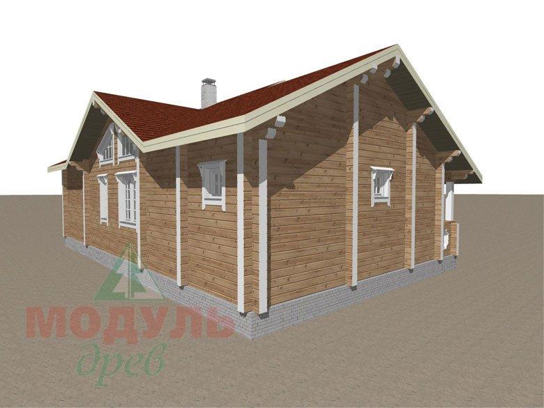 Проект дома из бруса «Пятигорск» - макет 6