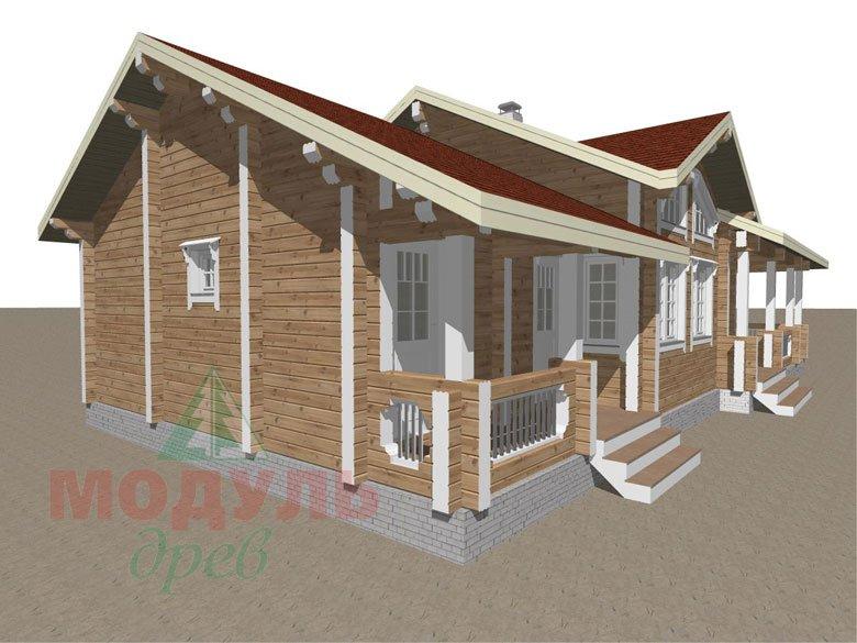 Проект дома из бруса «Пятигорск» - макет 7