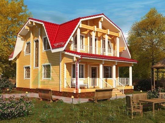 Проект дома из бруса «Рассказово»