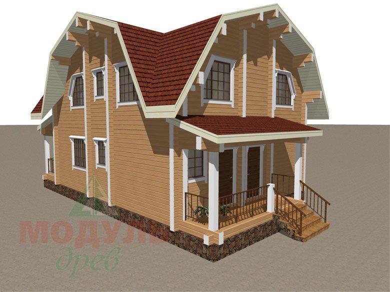 Проект дома из бруса «Рассказово» - макет 1