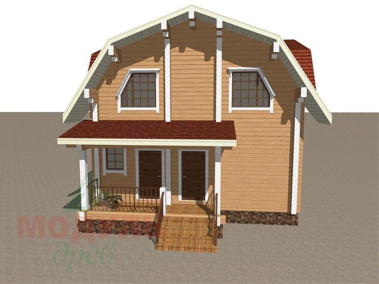 Дом из бруса «Рассказово» - макет 2
