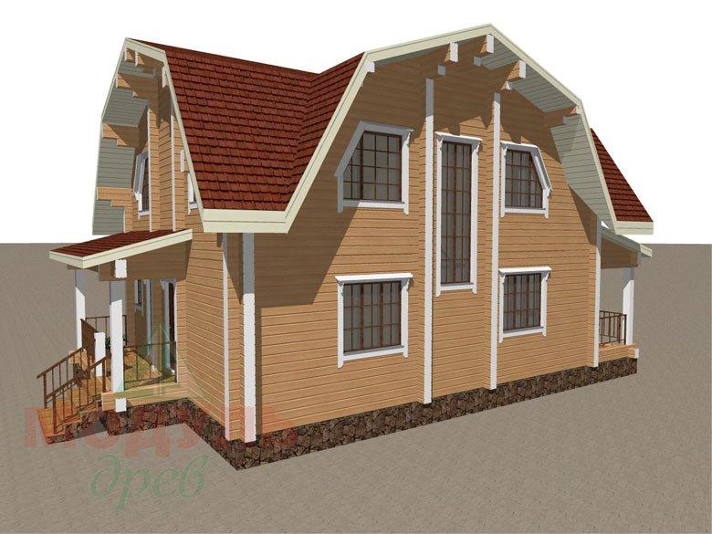 Дом из бруса «Рассказово» - макет 3