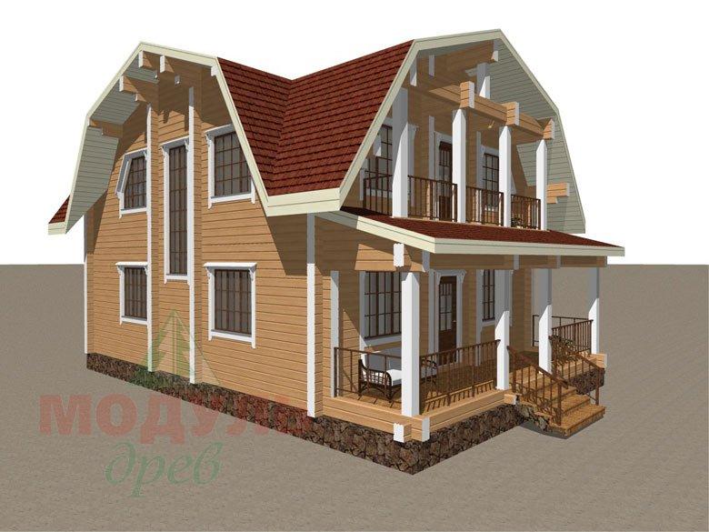 Дом из бруса «Рассказово» - макет 4