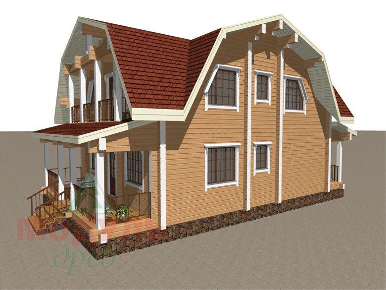 Дом из бруса «Рассказово» - макет 6