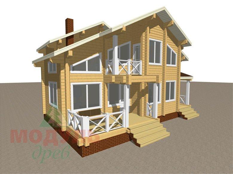 Проект дома из бруса «Ростов» - макет 1