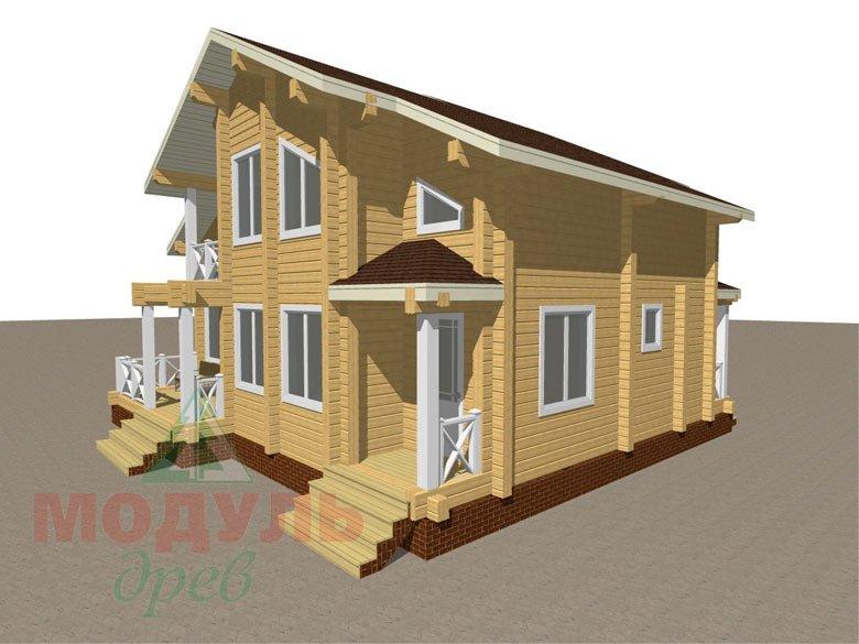 Дом из бруса «Ростов» - макет 3