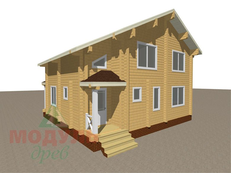 Дом из бруса «Ростов» - макет 5