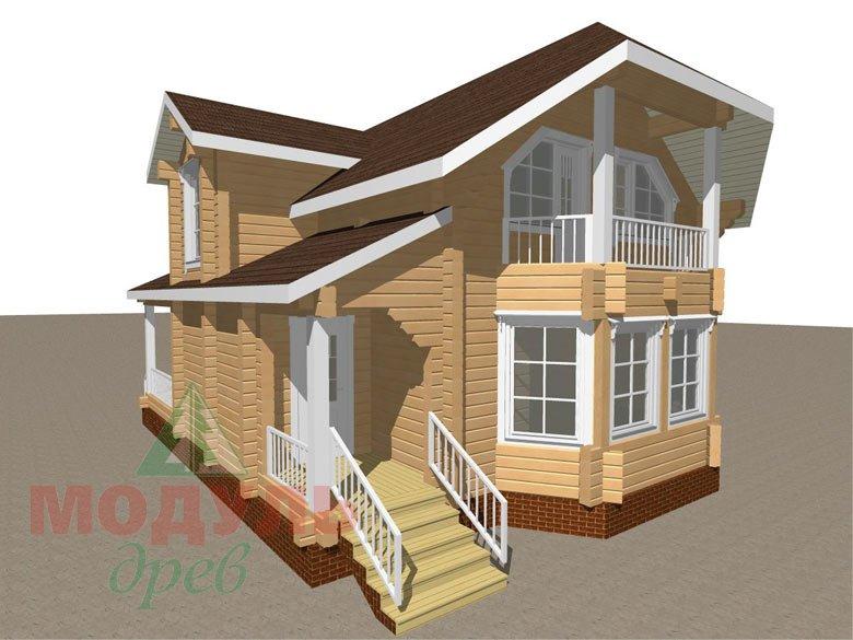 Проект дома из бруса «Садко» макет 1