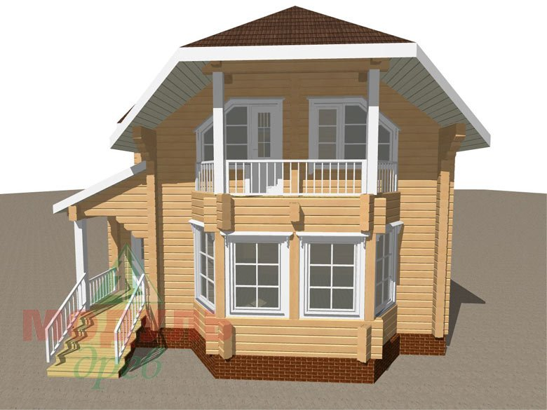 Дом из бруса «Садко» макет 2
