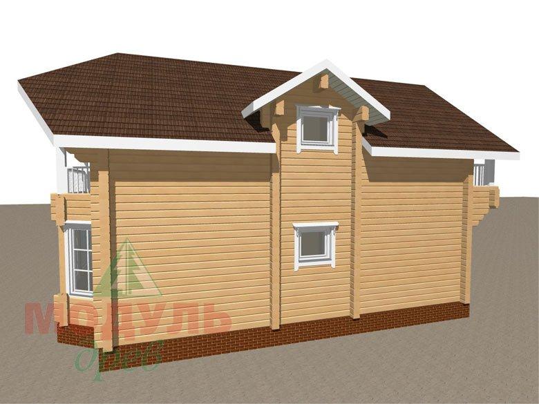 Дом из бруса «Садко» макет 3