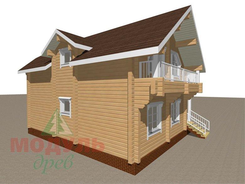 Дом из бруса «Садко» макет 4