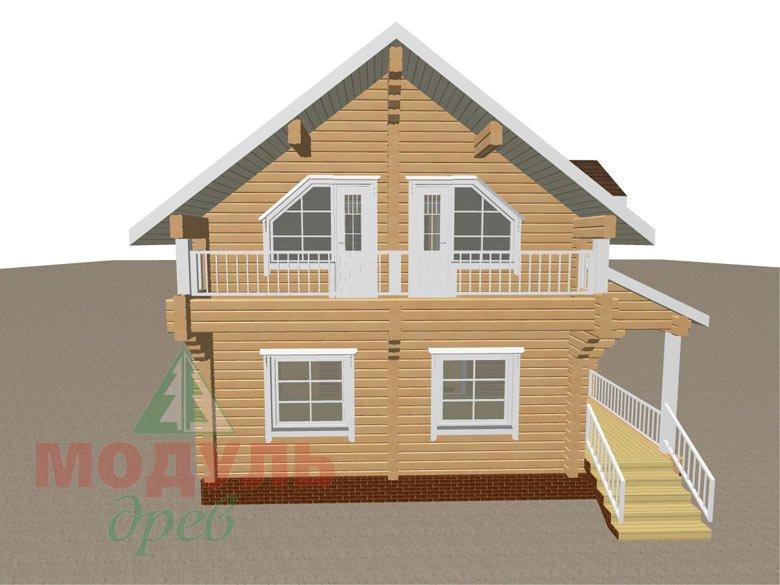 Дом из бруса «Садко» макет 5
