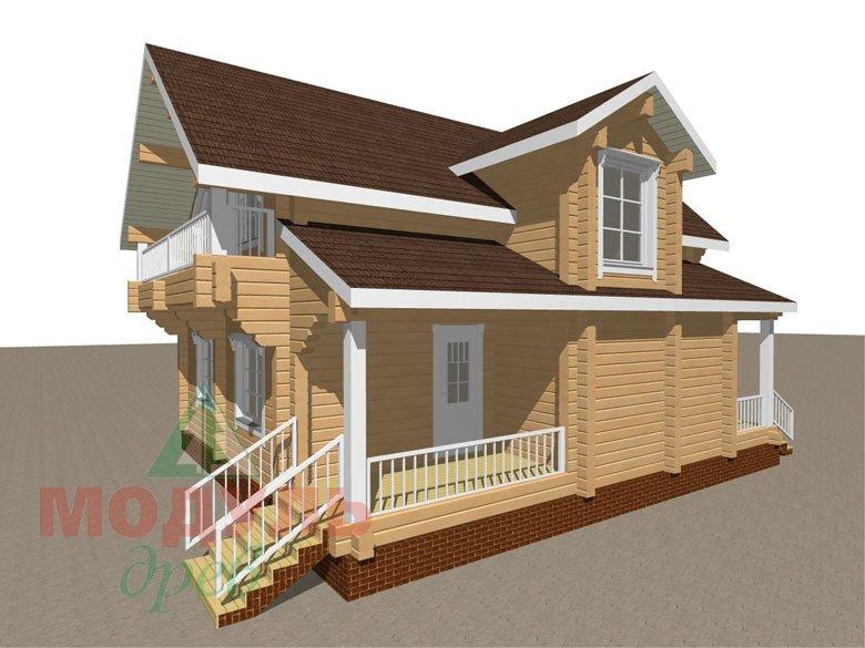 Дом из бруса «Садко» макет 6