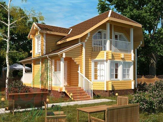 Проект загородного дома из бруса «Садко»