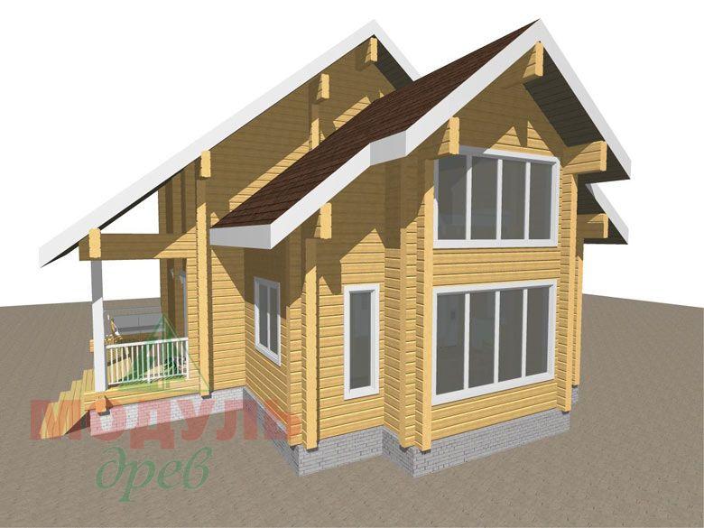 Проект дома из бруса «Серпухов» - Макет 1