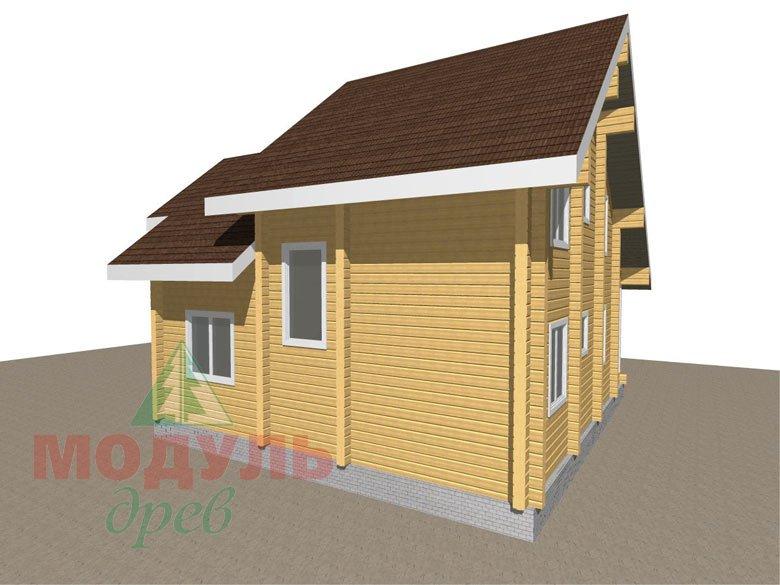Дом из бруса «Серпухов» - Макет 4