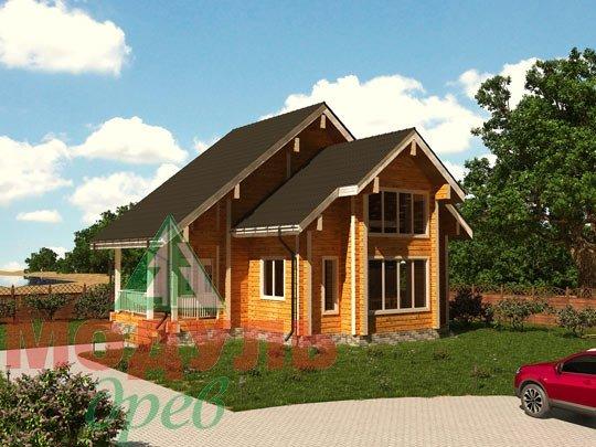 Проект дома из бруса «Серпухов»