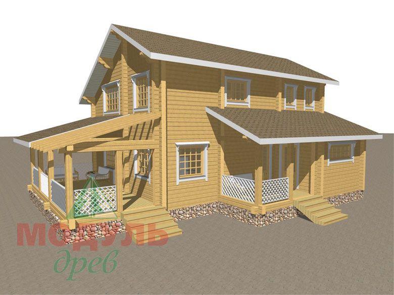 Проект дома из бруса «Шексна-1» - макет 1