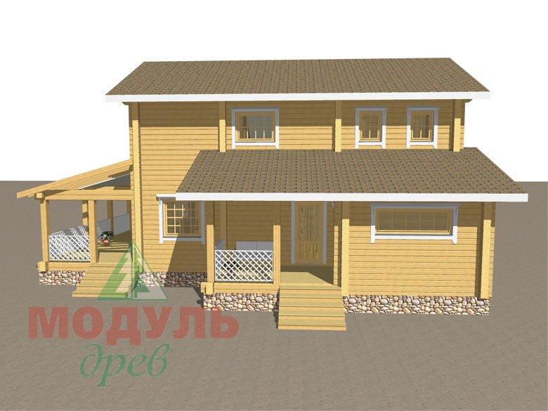 Дом из бруса «Шексна-1» - макет 2
