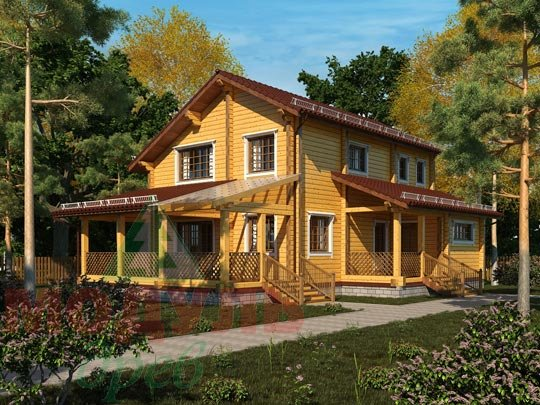 Проект дома из бруса «Шексна-1»