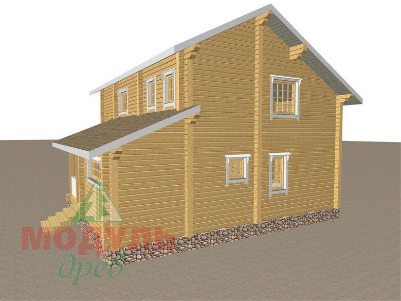 Дом из бруса «Шексна-1» - макет 3