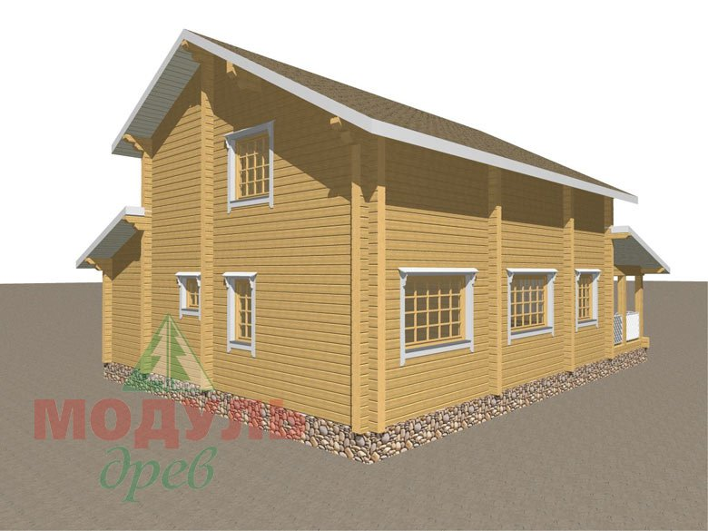 Дом из бруса «Шексна-1» - макет 4