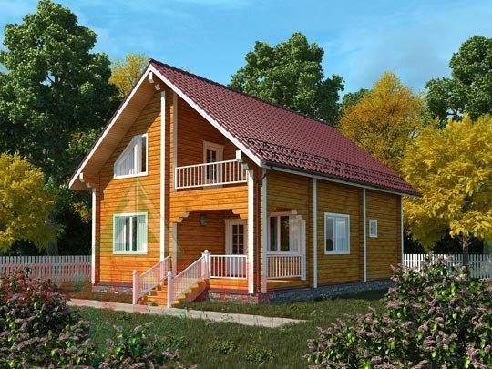 Дом из бруса «Шексна-2».