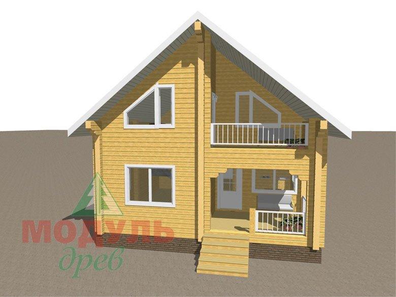 Проект дома из бруса «Шексна-2» - макет 1