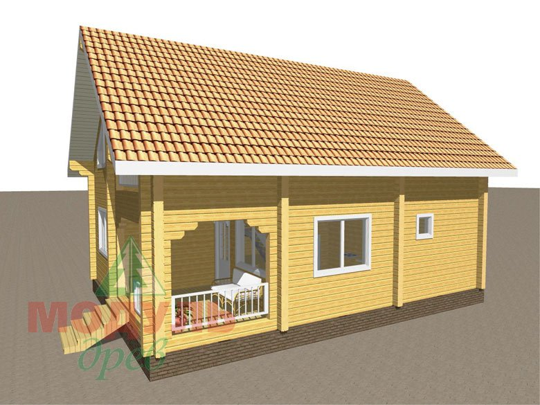 Дом из бруса «Шексна-2» - макет 2
