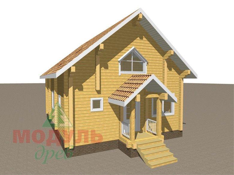 Дом из бруса «Шексна-2» - макет 3