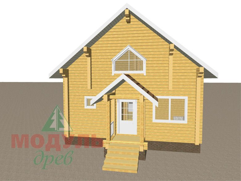 Дом из бруса «Шексна-2» - макет 4