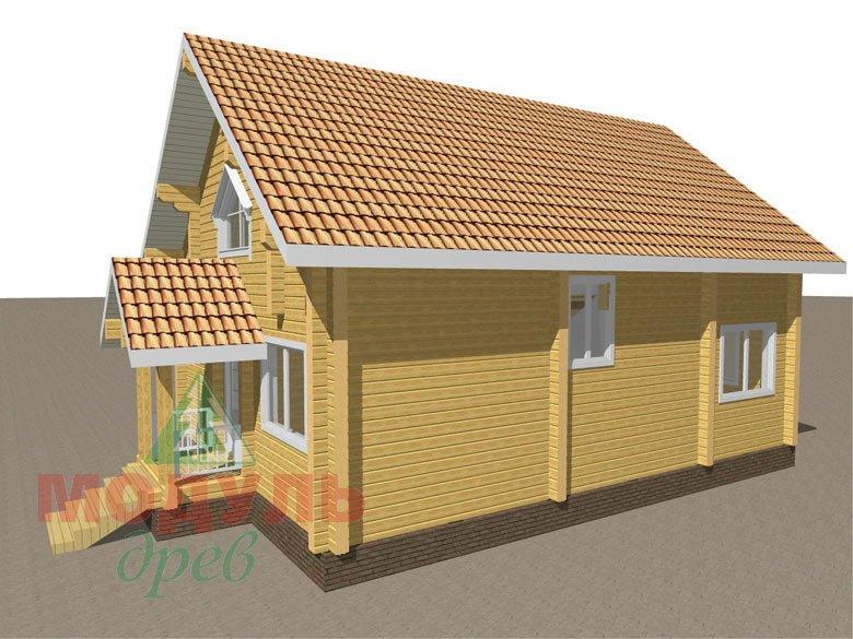 Дом из бруса «Шексна-2» - макет 5