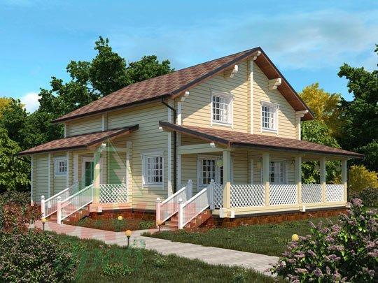 Дом из бруса «Шексна-3».