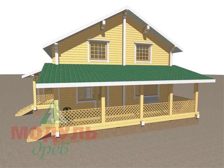 Дом из бруса «Шексна-3» - макет 2