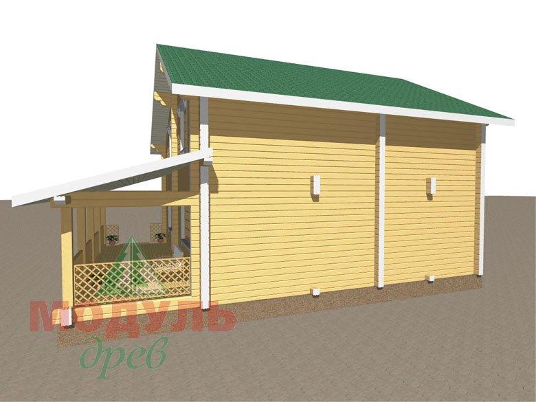 Дом из бруса «Шексна-3» - макет 3