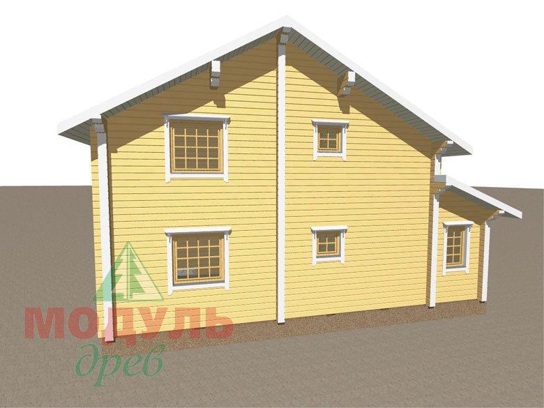 Дом из бруса «Шексна-3» - макет 4