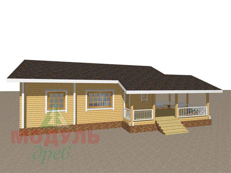 Проект дома из бруса «Сия» макет 1