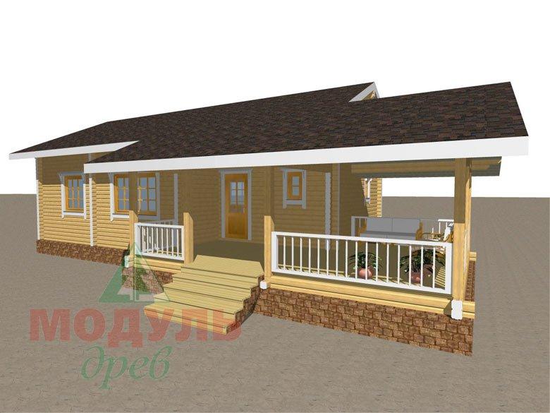 Проект дома из бруса «Сия» макет 2