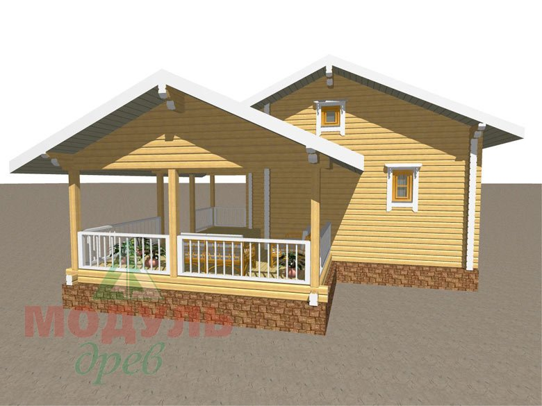 Дом из бруса «Сия» макет 3