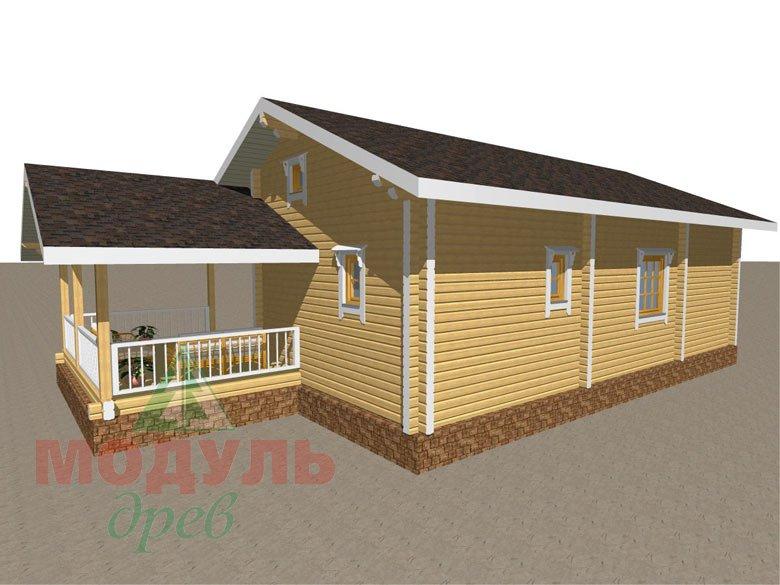 Дом из бруса «Сия» макет 4