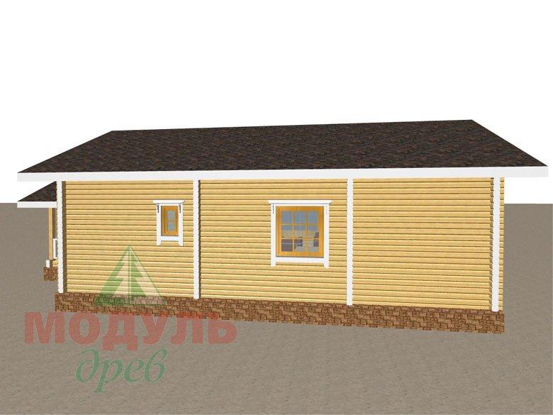 Дом из бруса «Сия» макет 5