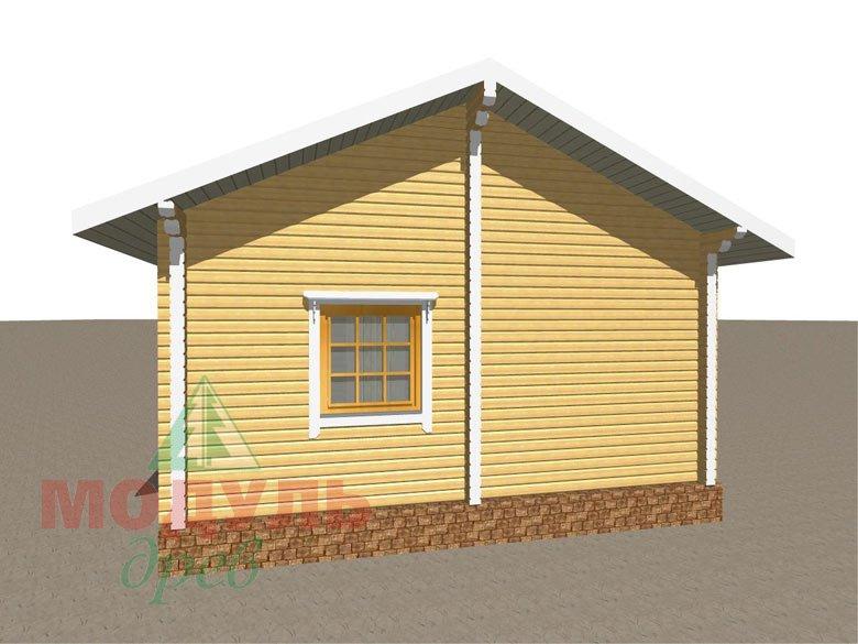 Дом из бруса «Сия» макет 6