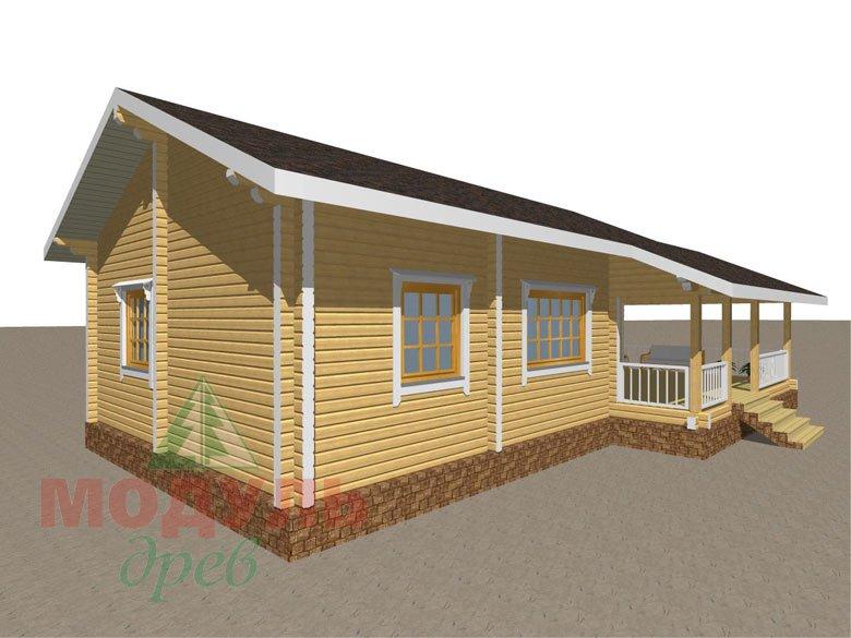 Дом из бруса «Сия» макет 7
