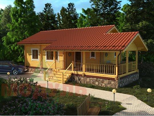 Проект дома из бруса «Сия»