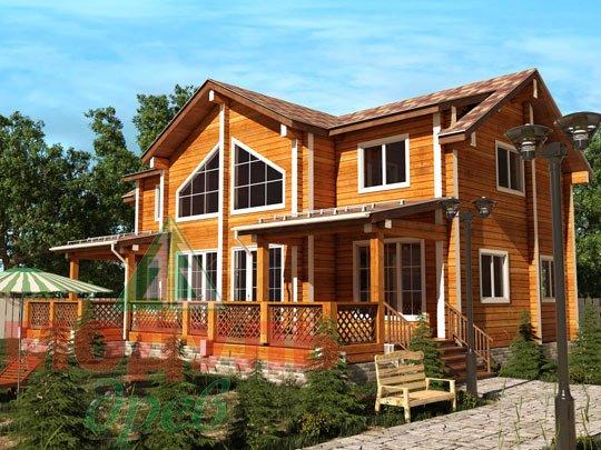 Проект дома из бруса «Сколково»