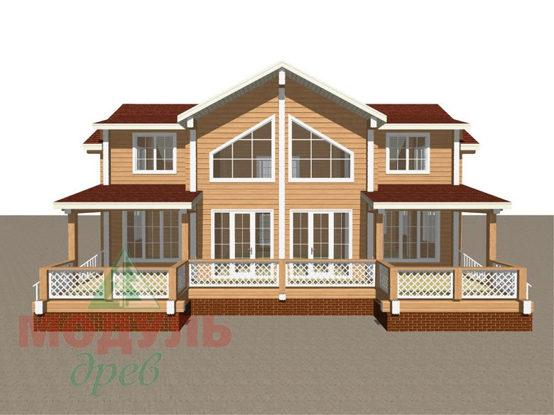 Проект дома из бруса «Сколково» - макет 1
