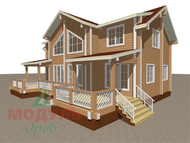 Загородный дом из бруса «Сколково» - макет 2